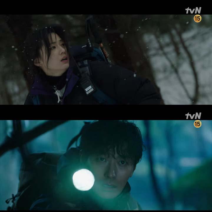 tvN 지리산 티저 캡쳐